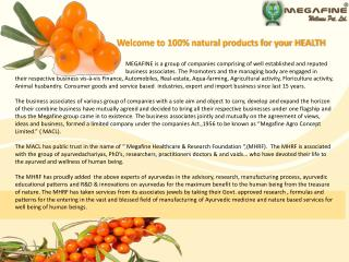 Welcome to 100% natural products for your HEALTH