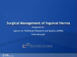 Surgical Management of Inguinal Hernia