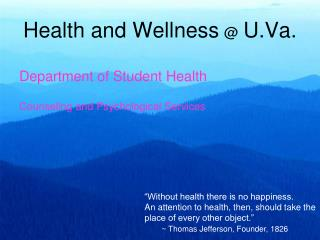 Health and Wellness @ U.Va.