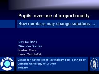 Pupils' over-use of proportionality