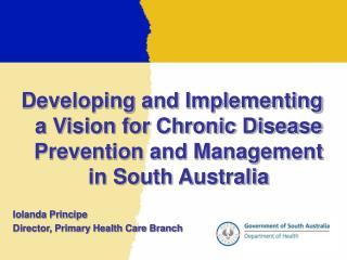 Developing and Implementing a Vision for Chronic Disease Prevention and Management in South Australia