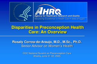 Disparities in Preconception Health Care: An Overview Correa ...