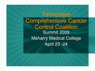 Tennessee Comprehensive Cancer Control Coalition