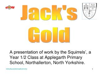 A presentation of work by the Squirrels', a Year 1/2 Class at Applegarth Primary School, Northallerton, North Yorksh