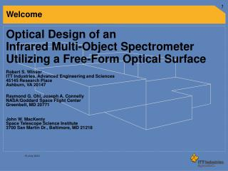 Optical Design of an  Infrared Multi-Object Spectrometer  Utilizing a Free-Form Optical Surface