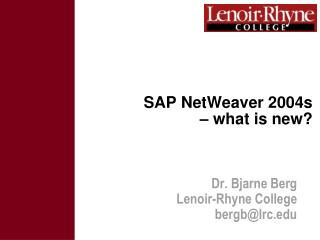 SAP NetWeaver 2004s  – what is new?