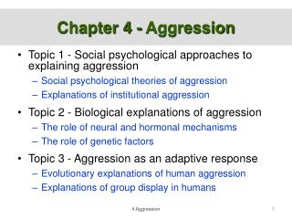 Chapter 4 - Aggression