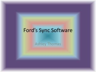 Ford's Sync Software