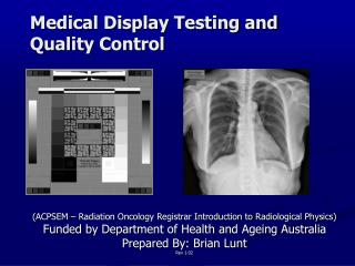 Medical Display Testing and Quality Control