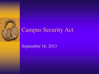 Campus Security Act