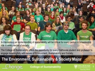 The Environment, Sustainability & Society Major