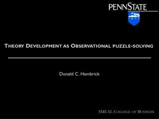 Theory Development as Observational puzzle-solving