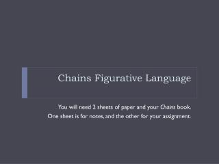 Chains Figurative Language