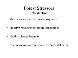 Forest Stressors Introduction