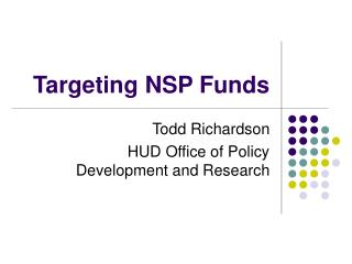 Targeting NSP Funds