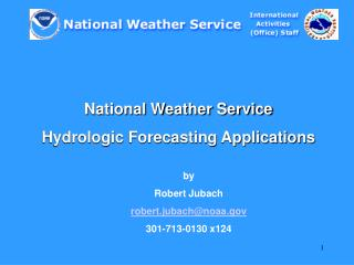 National Weather Service  Hydrologic Forecasting Applications