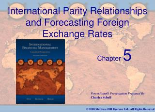 International Parity Relationships and Forecasting Foreign Exchange Rates
