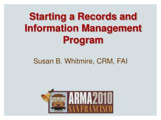 Starting a Records and Information Management Program