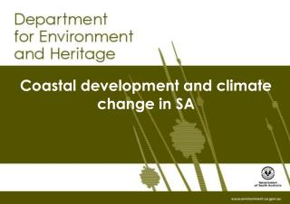 Coastal development and climate change in SA