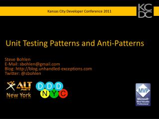 Unit Testing Patterns and Anti-Patterns