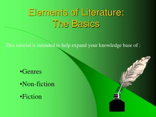 Elements of Literature: The Basics