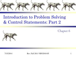 Introduction to Problem Solving & Control Statements: Part 2