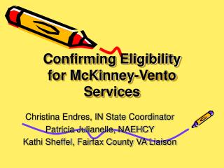 Confirming Eligibility for McKinney-Vento Services