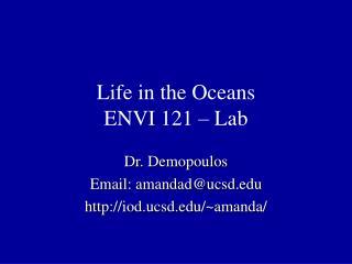Life in the Oceans ENVI 121 – Lab