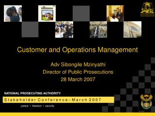 Customer and Operations Management