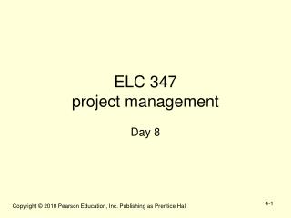 ELC 347  project management