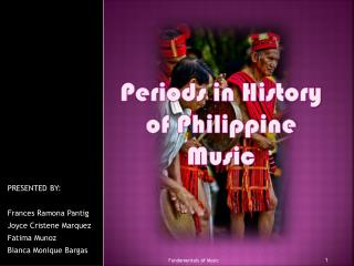 Periods in History of Philippine Music