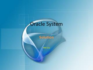 Oracle System