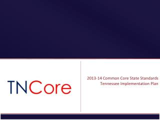 2013-14 Common Core State Standards Tennessee Implementation Plan