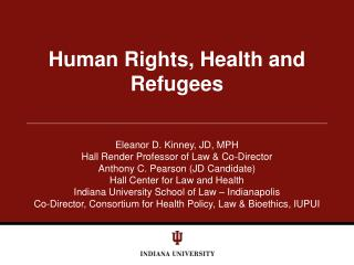 Human Rights, Health and Refugees