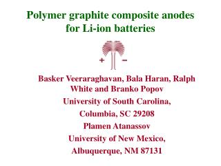 Polymer graphite composite anodes for Li-ion batteries