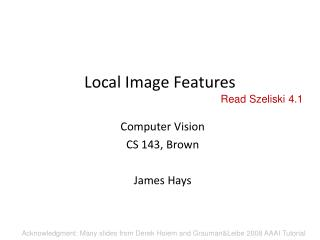Local Image Features
