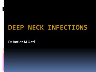Deep Neck Infections