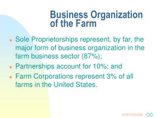 Business Organization of the Farm