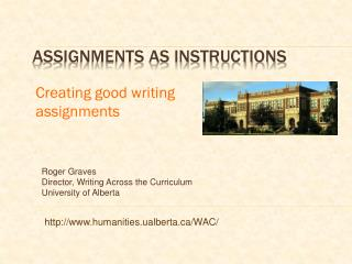 Assignments as instructions