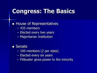 Congress: The Basics