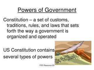 Powers of Government