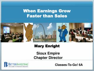When Earnings Grow  Faster than Sales