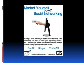Market Yourself Through Social Networking