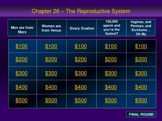 Chapter 26 – The Reproductive System