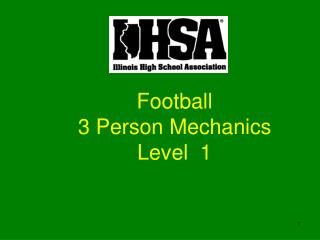 Football 3 Person Mechanics Level  1
