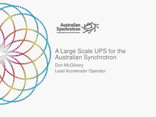 A Large Scale UPS for the Australian Synchrotron