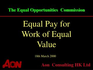 The Equal Opportunities  Commission