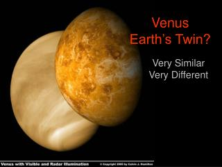 Venus Earth's Twin?
