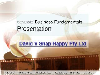 GENL5020  Business Fundamentals Presentation