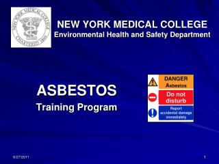 NEW YORK MEDICAL COLLEGE Environmental Health and Safety Department
